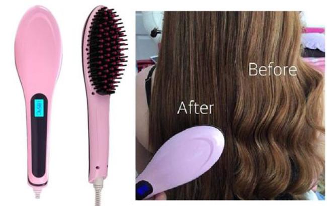 GFT Ionizačná kefa na vlasy s LCD displejom na žehlenie vlasov