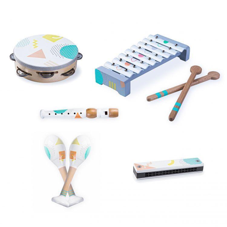 EcoToys Drevené hudobné nástroje pre deti, 3630