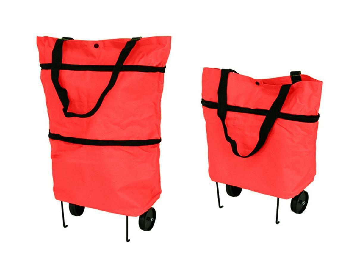 APT Nákupná taška na kolieskach 48x27cm - červená, AG392A