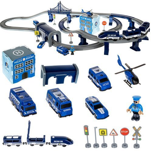 ISO Detská vláčkodráha Polícia 92 dielov, 11411