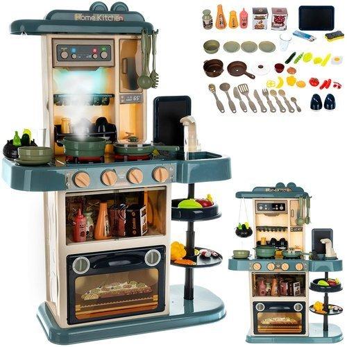 ISO Detská kuchynka XL so zvukmi a tečúcou vodou modrá, 11546