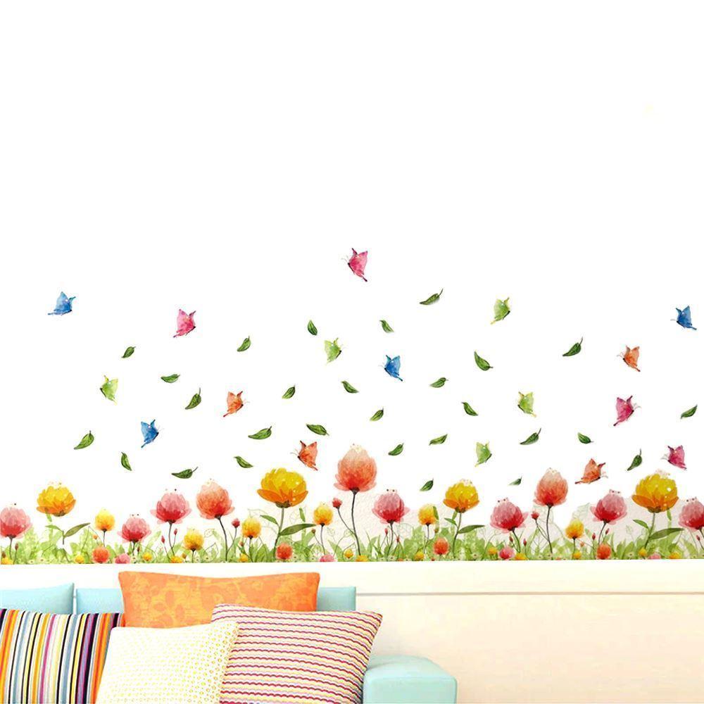 GFT Dekoračné samolepky - farebné kvetinky