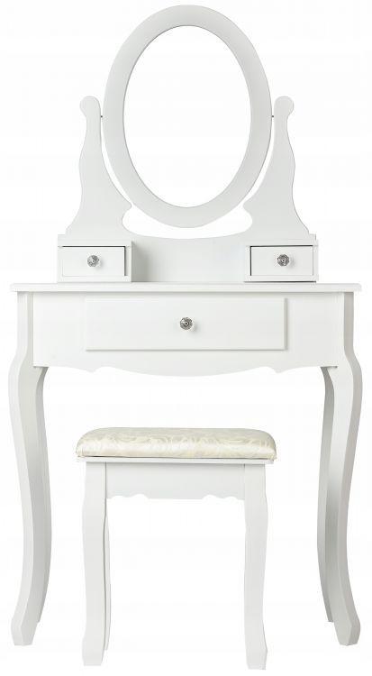 ModernHome Toaletný stolík so zrkadlom a stoličkou, W-HY-225
