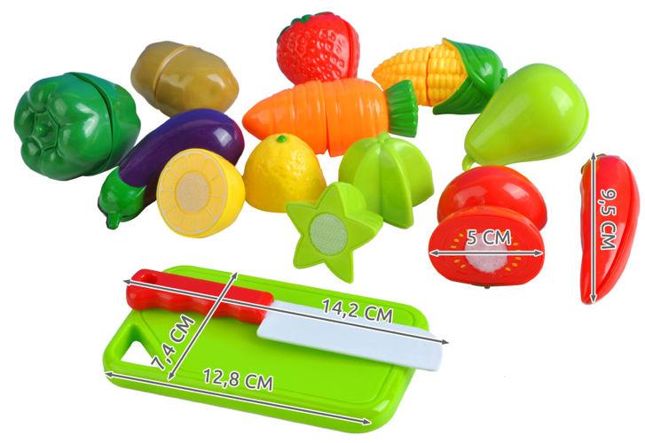 ISO Krájací ovocie a zelenina 13 ks, 6080
