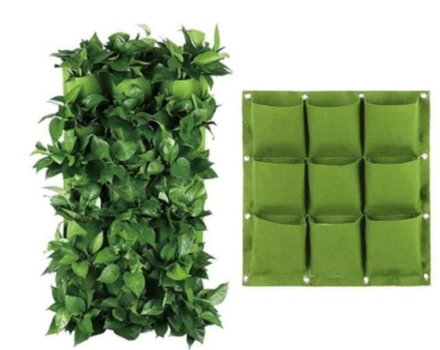 GFT Závesné textilné kvetináče - 9 vreciek