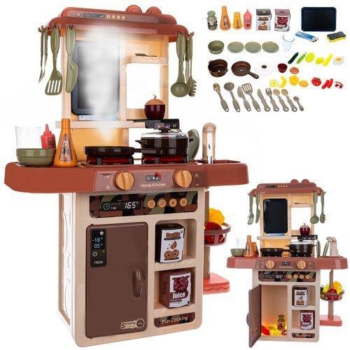 ISO Detská kuchynka so zvukmi a tečúcou vodou, hnedá, 11468
