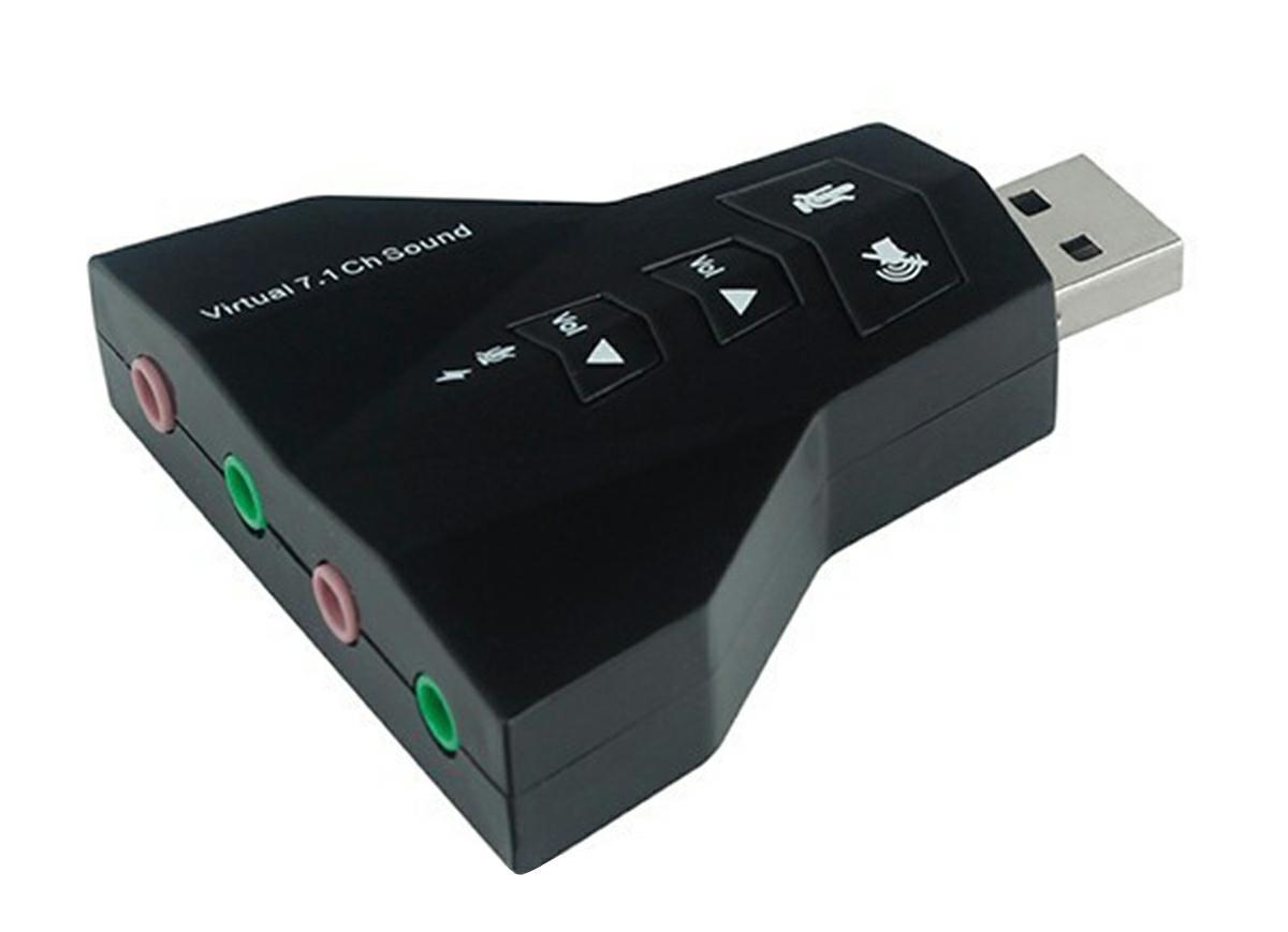 APT USB Zvuková karta Virtual 7.1 CH, AK103D