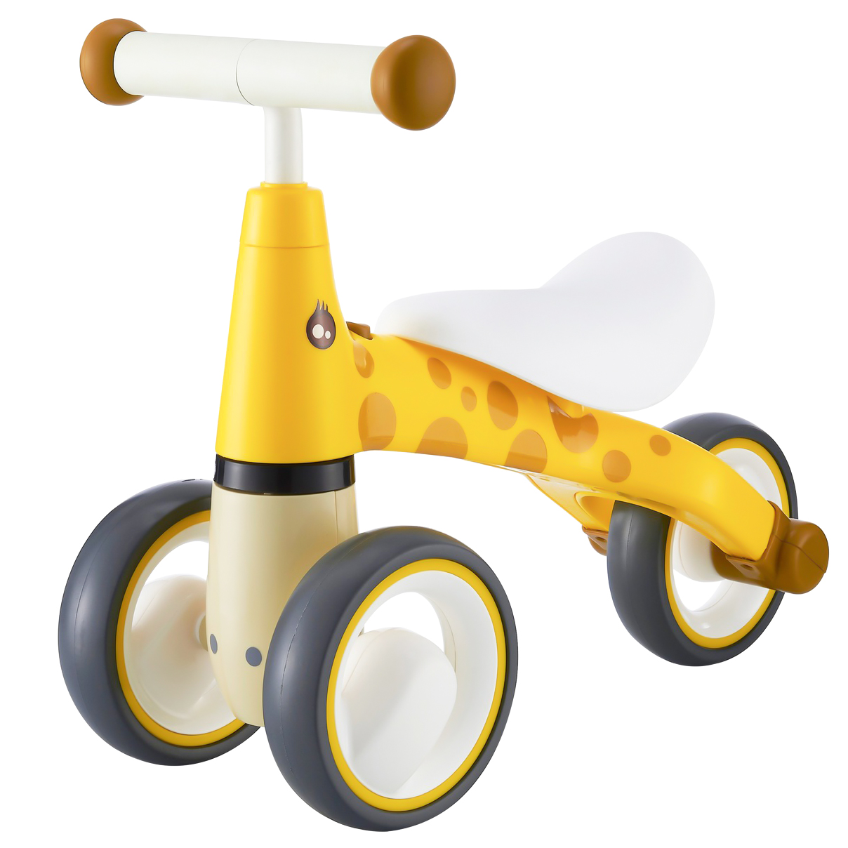 EcoToys Detské odrážadlo Žirafa MINI - žlté, LB1603