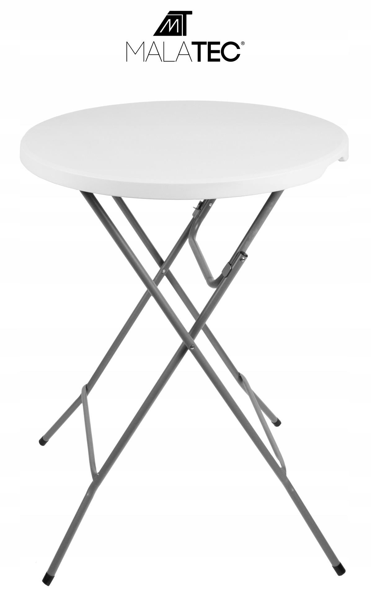 Malatec Záhradný barový stolík okrúhly 80 cm - biely, 12283