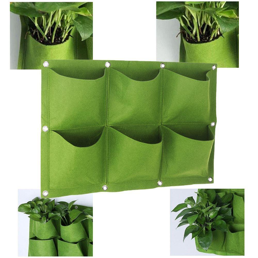 GFT Závesné textilné kvetináče - 6 vreciek