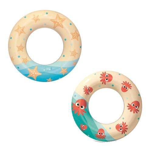 BESTWAY 36014 Detský nafukovací kruh Hviezdica / Chobotnica 61 cm, 9856