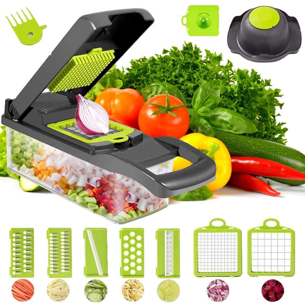 Verk 07062 Multifunkčný krájač na ovocie a zeleninu - šedo-zelený