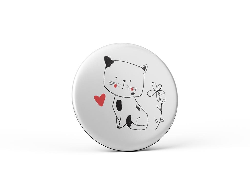 Nekupto Vtipný magnet s potlačou Mačka so srdiečkom
