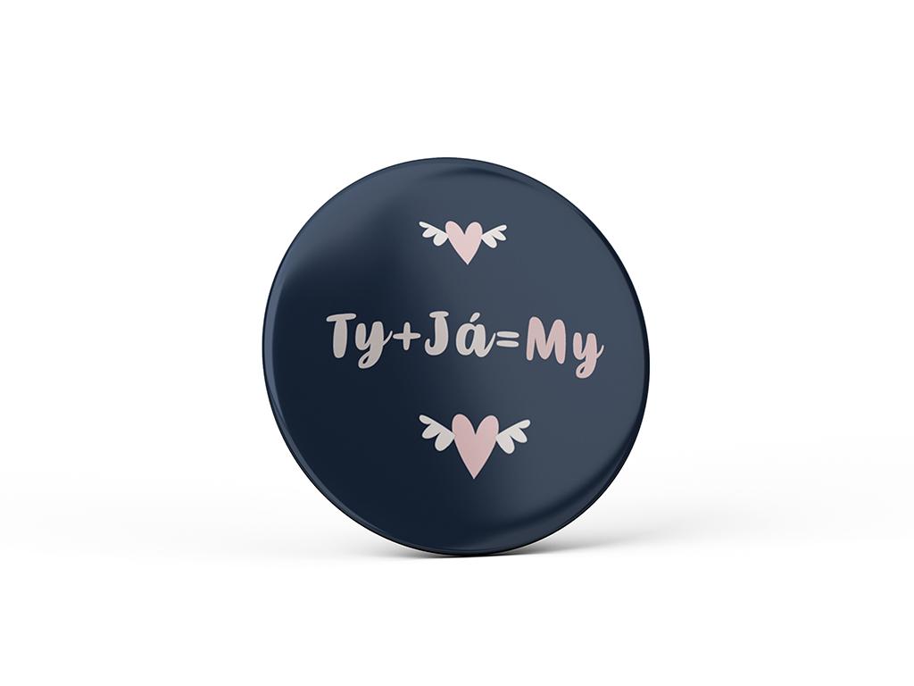 Nekupto Vtipný magnet s potlačou Ty + Ja = My