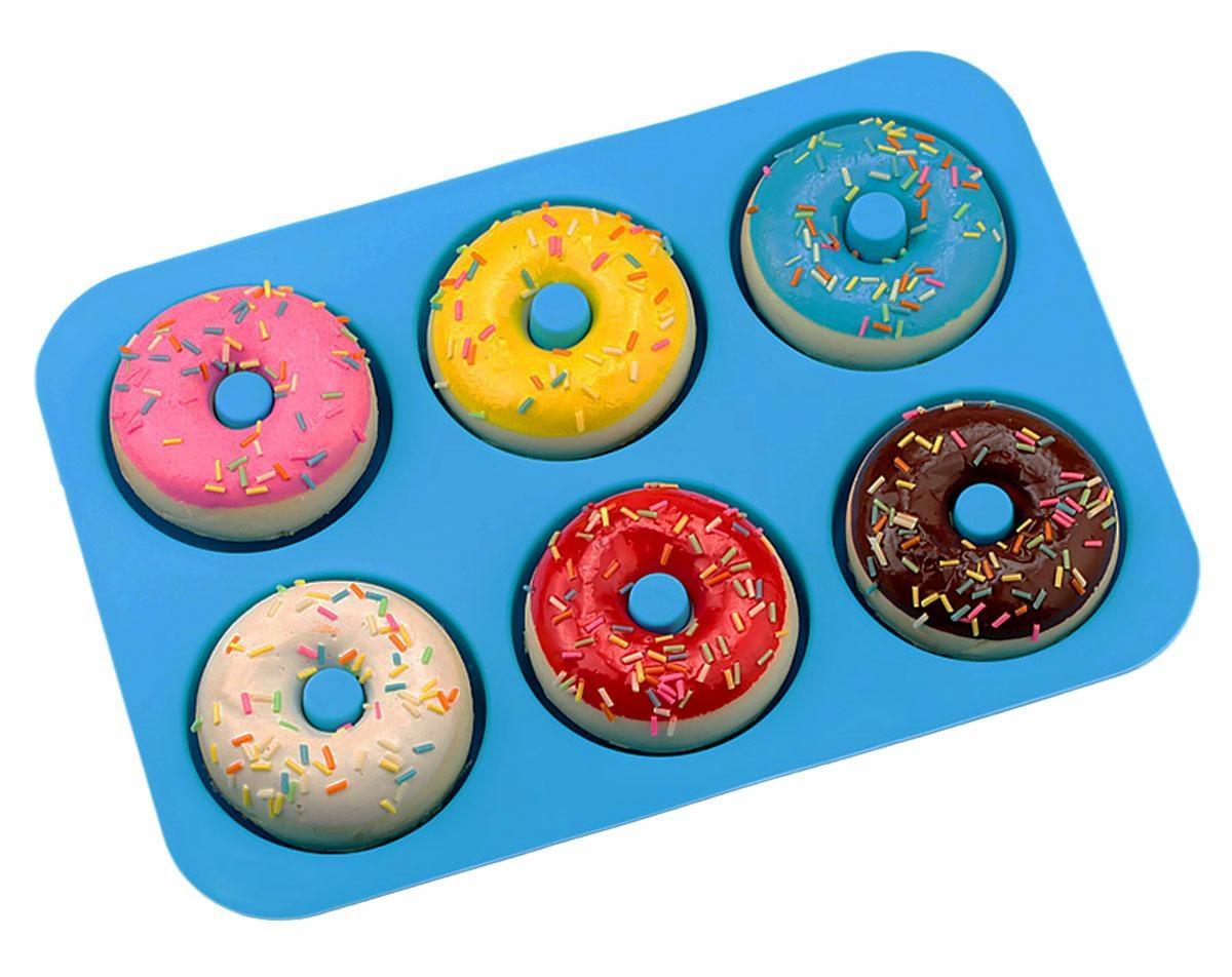 APT AG433D Silikónová forma na donuty - modrá
