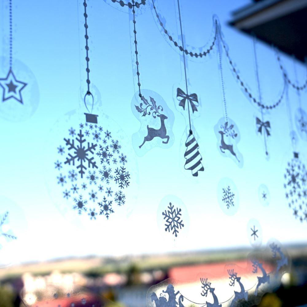 GFT Vianočné nálepky na okno - sobie záprahov