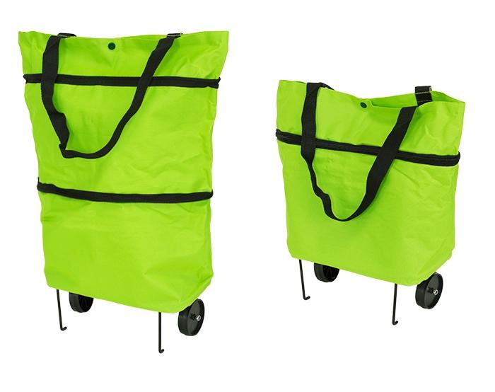 APT Nákupná taška na kolieskach 48x27cm, zelená, AG392