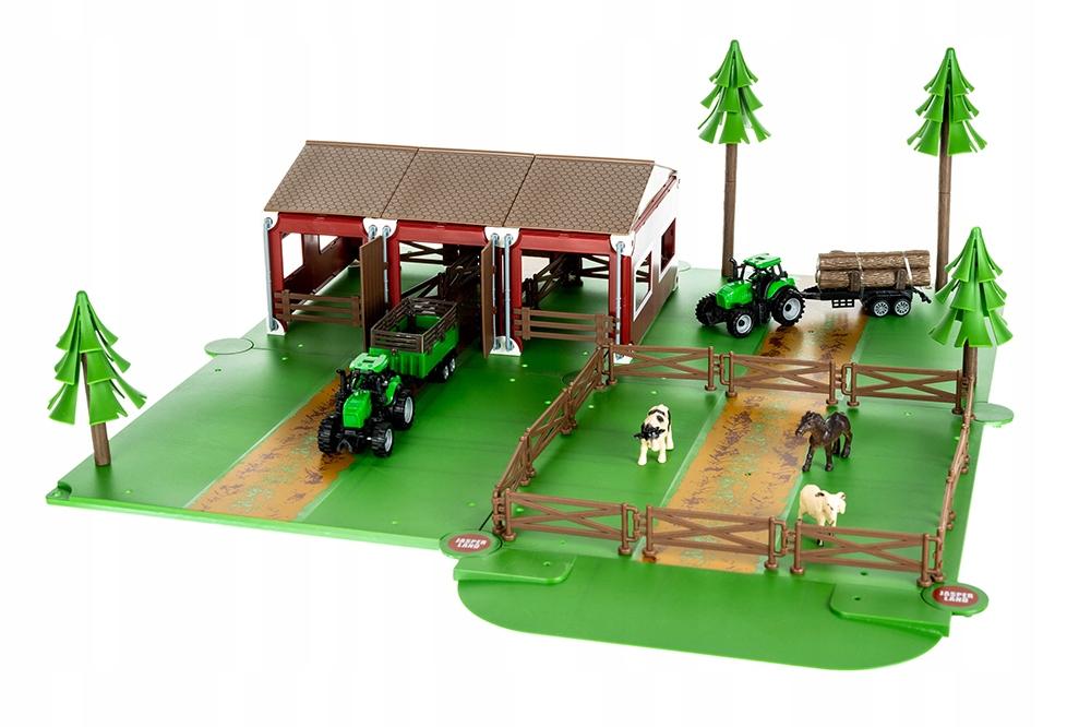 ISO 11465 Farma set s traktory a zvieratkami
