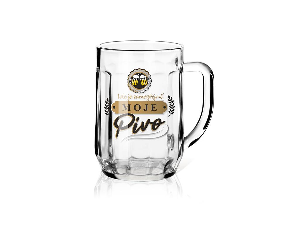 Nekupto Darčeková poháre na pivo 0,5 l Moje pivo