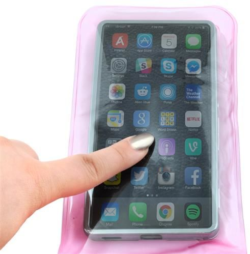 ISO Vodotesné puzdro na mobilný telefón - ružové, P2386