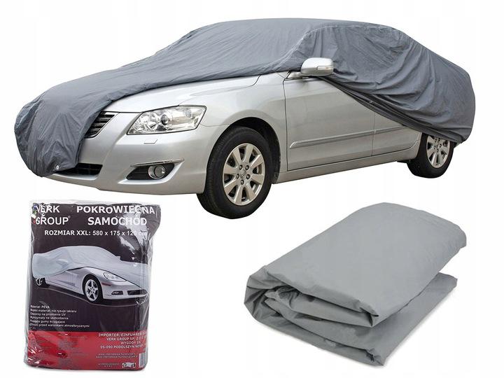 Verk Ochranná plachta na auto, sivá, veľ. XXL