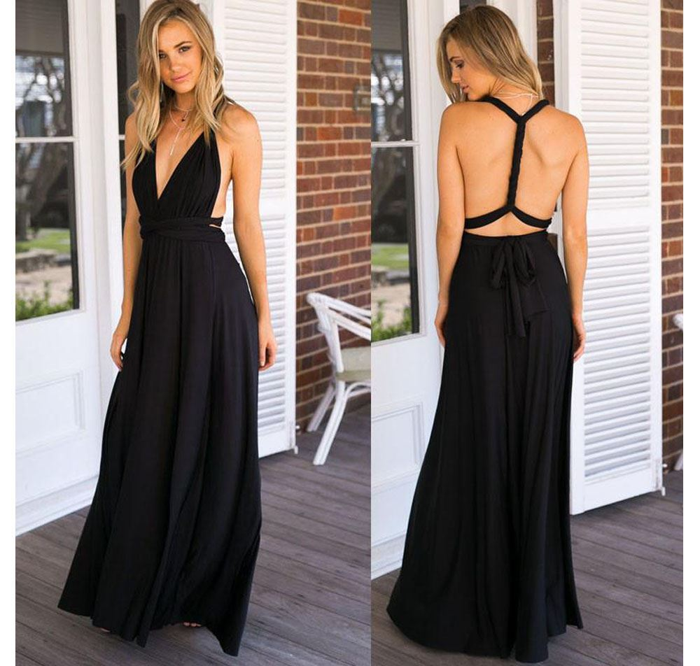 B2B Univerzálny šaty - čierne Q205