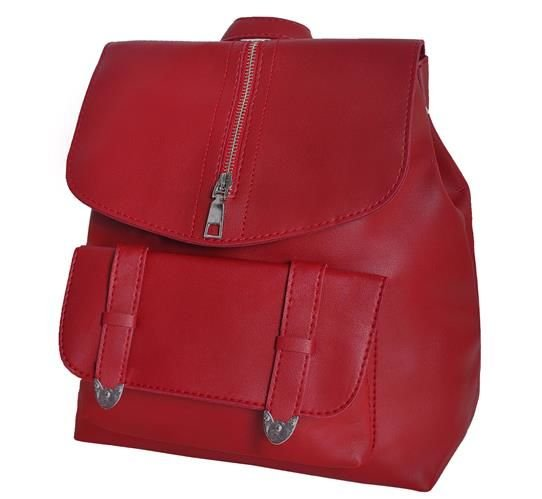 ISO Dámsky mestský batoh 2v1, vínovo červená, 8910