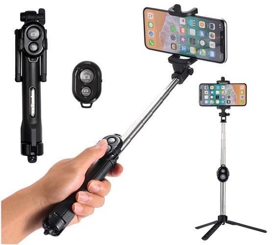 ISO Selfie tyč, statív s bluetooth ovládačom 3v1, 8689