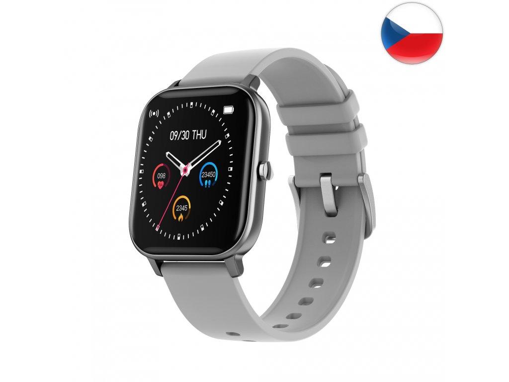 Fitness hodinky Watch Pro X5 s GPS - Šedá