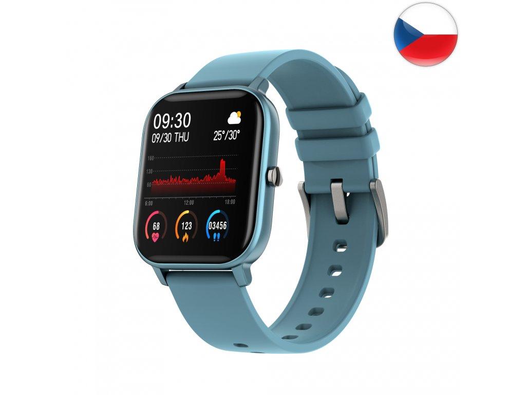 Fitness hodinky Watch Pro X5 s GPS - Modrá