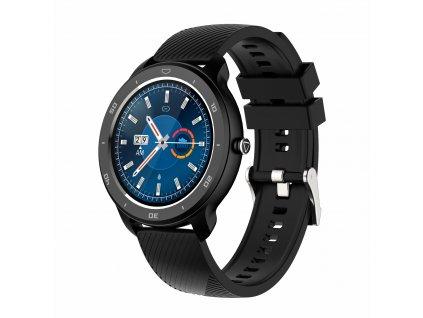 Chytré sportovní hodinky rWatch Round z černé oceli