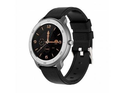 Chytré sportovní hodinky rWatch Round ze stříbrné oceli