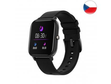 Fitness hodinky Watch Pro X5 s GPS - Černá