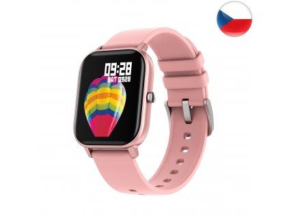 Fitness hodinky Watch Pro X5 s GPS - Růžová