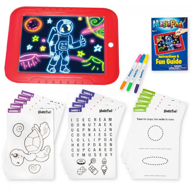 Magická tabuľa na kreslenie, svietiaca LED doska, Doska na obkreslovanie, svietiaca tabuľa, detská tabuľa na kreslenie