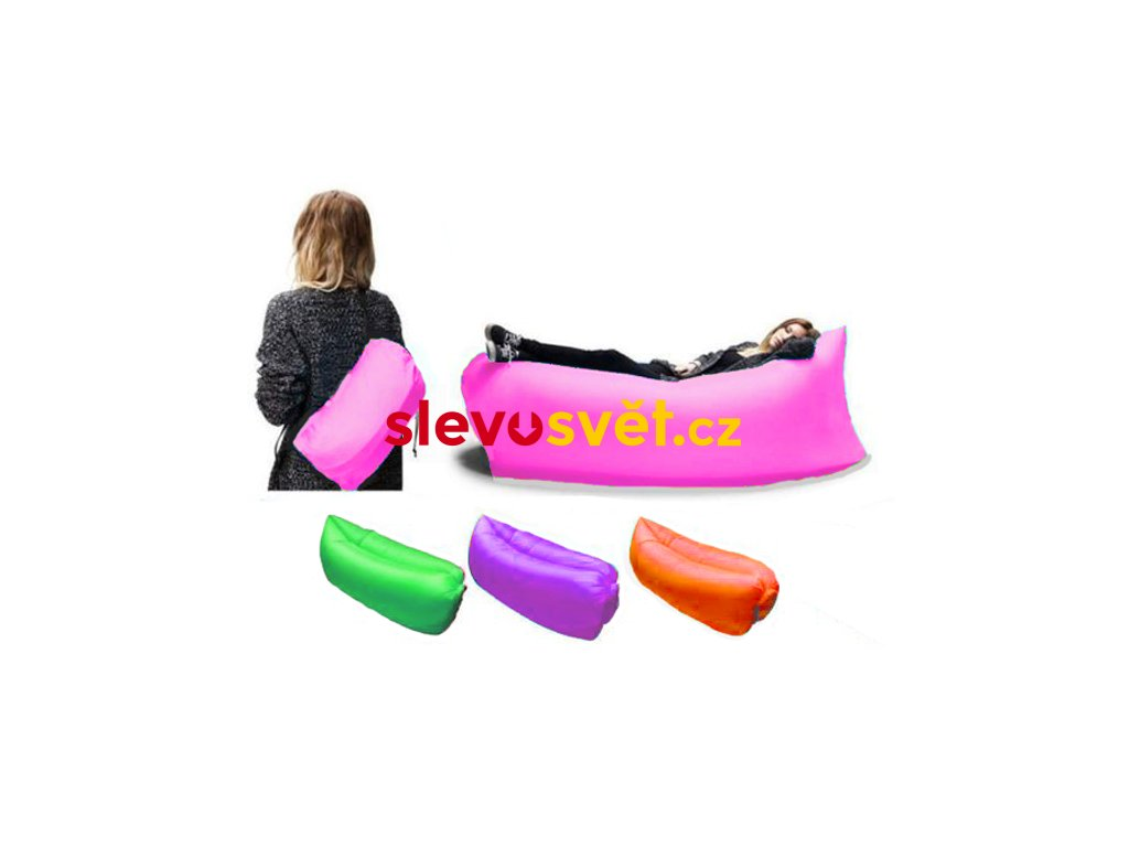 Nafukovací sedačka LAZY BAG zelený