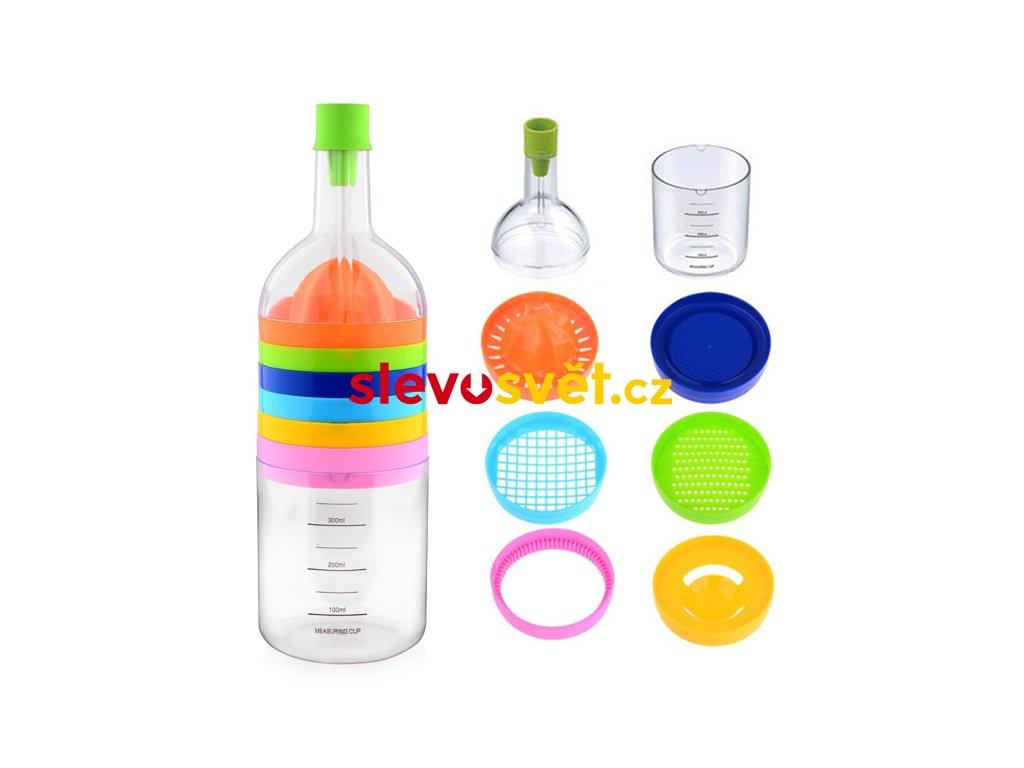 Set kuchyňských potřeb - láhev 8v1