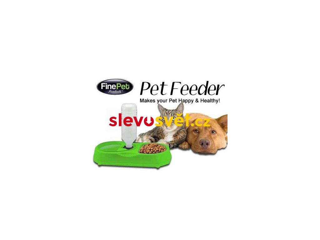 Automatický dávkovač krmiva, miska - Pet Feeder - zelený