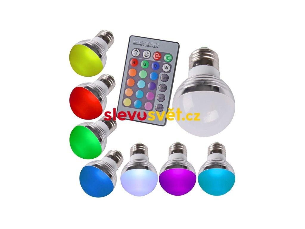 LED Žárovka 3W kulatá E27 RGB LT-305