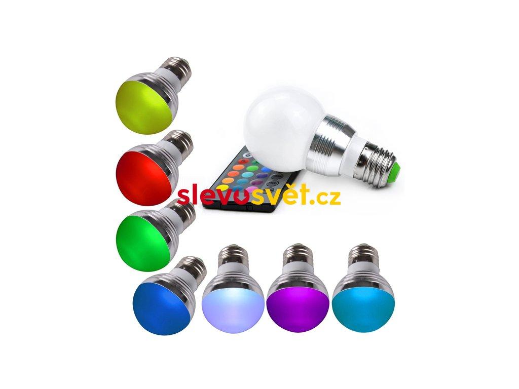 LED Žárovka 3W kulatá E27 RGB LT-307