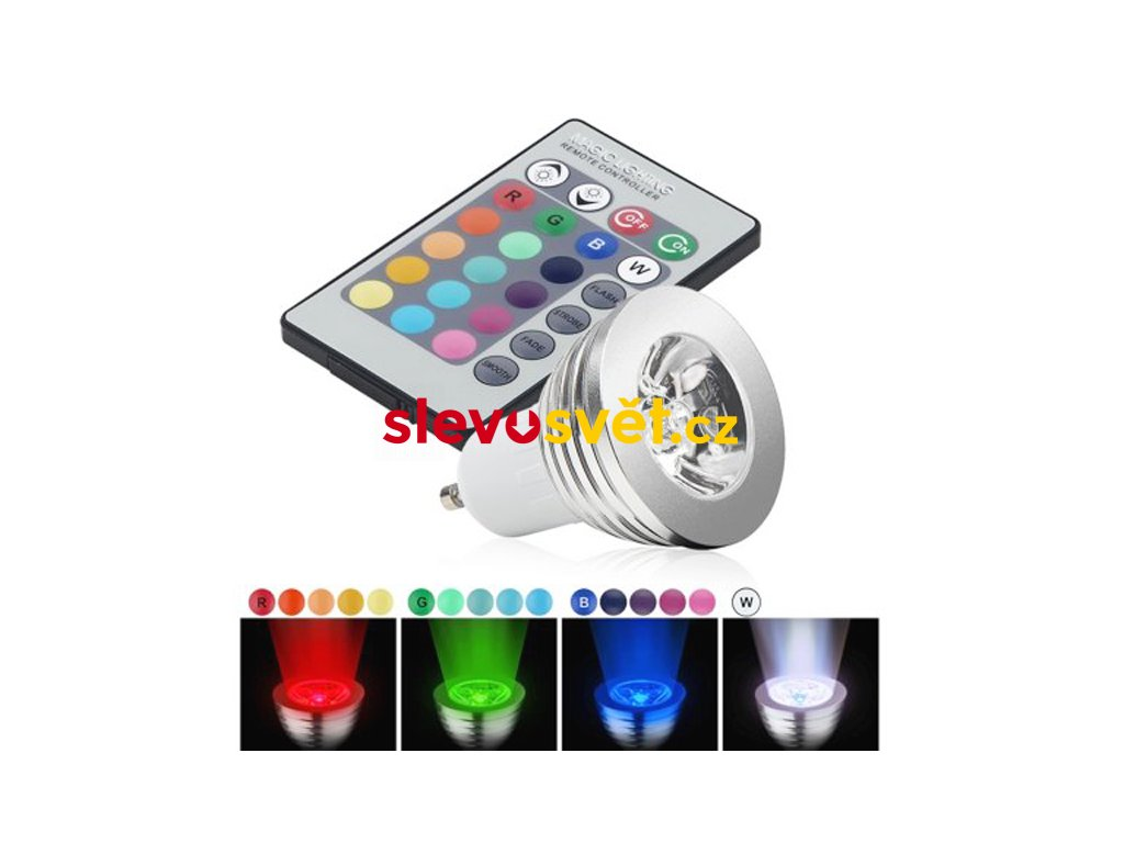 LED Žárovka 3W E27 RGB LT- 306