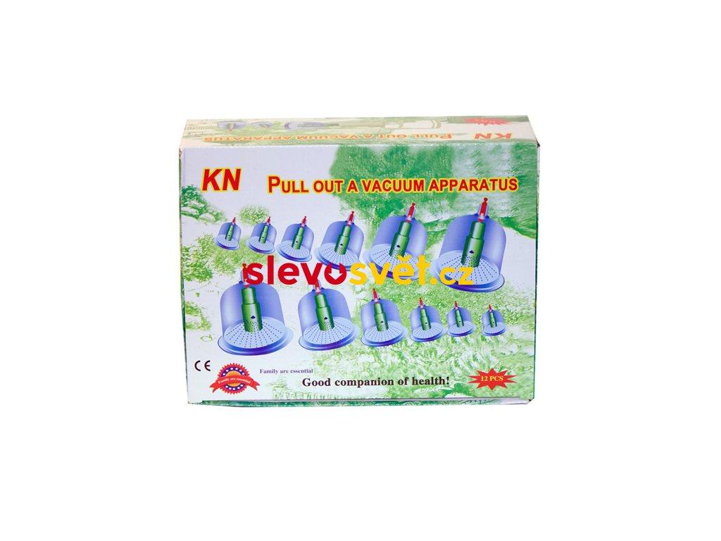 Vakuové masážní baňky 12 kusů + pumpa