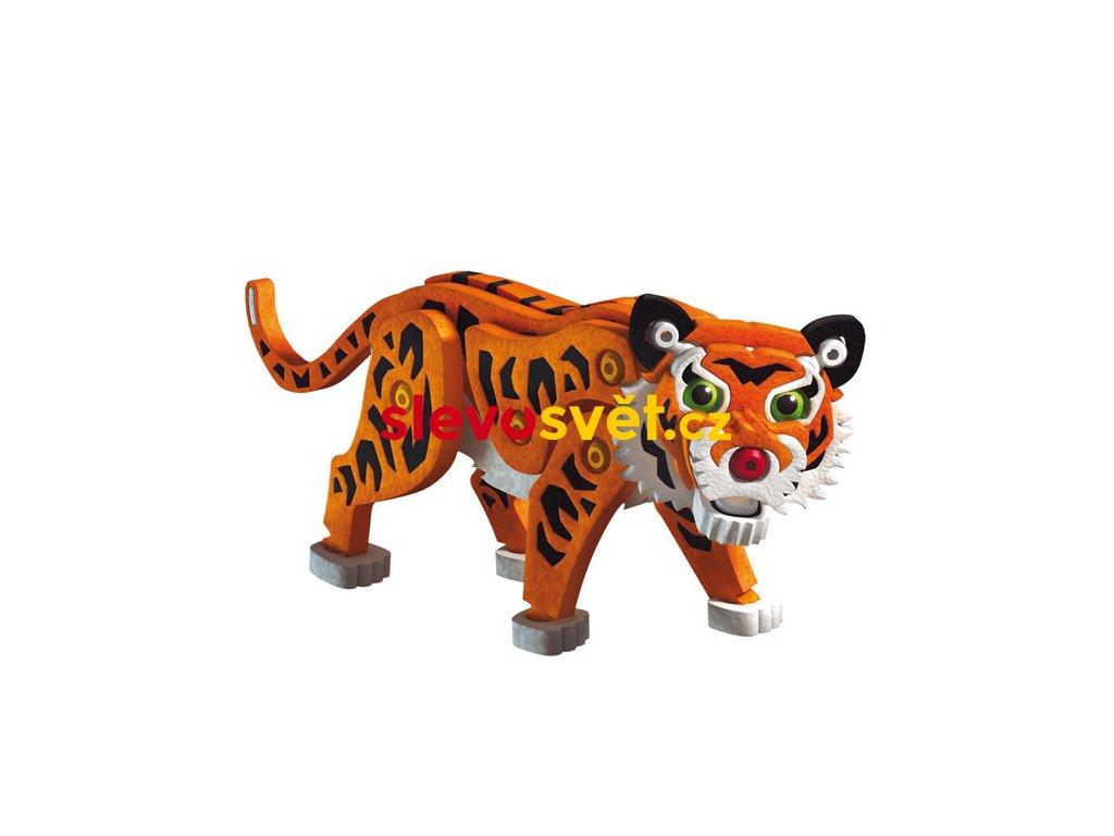 Puzzle pěnové 3D Tygr