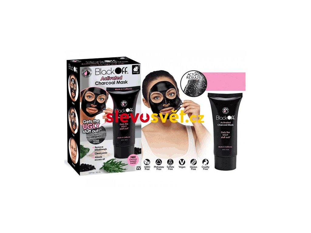 Slupovací černá pleťová maska – Black Off/Black Mask