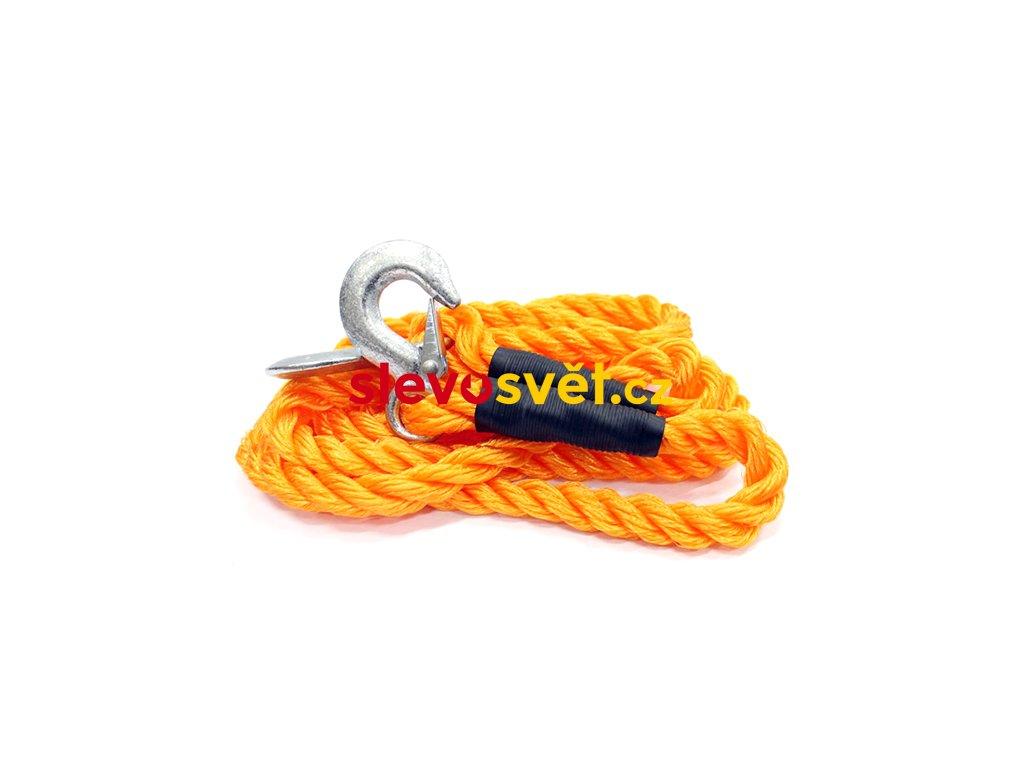 Tažné lano 4 m oranžové