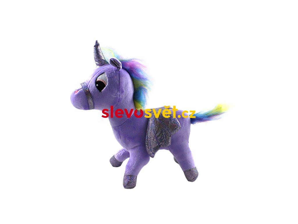 Plyšový jednorožec fialový 23 cm