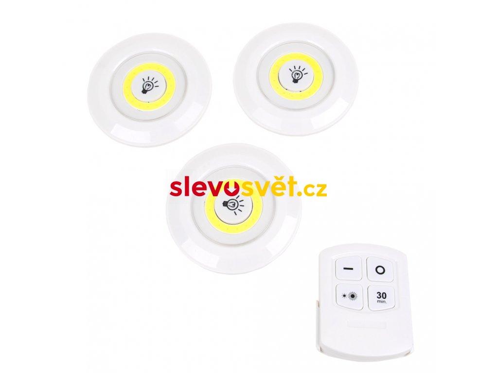 Sada 3 LED světel s ovladačem