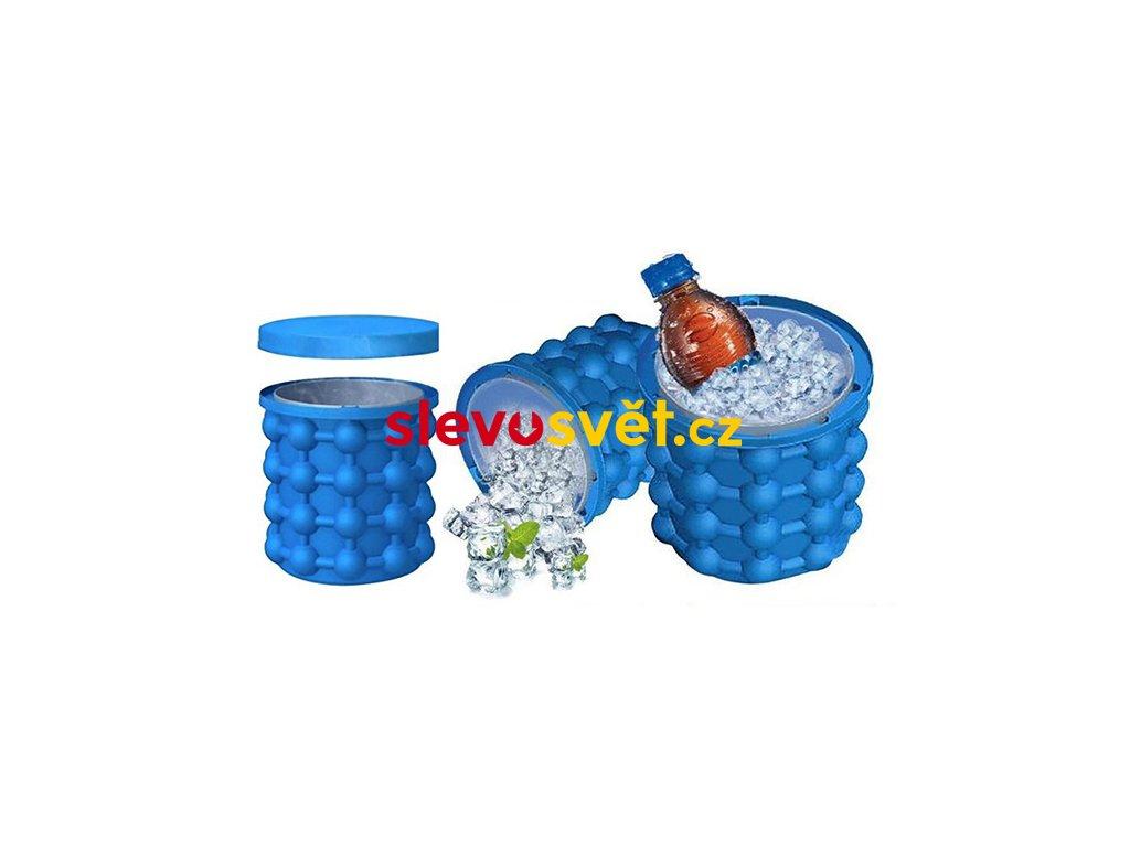 Silikonová nádoba na výrobu ledu - se skladovacím prostorem ICE CUBE