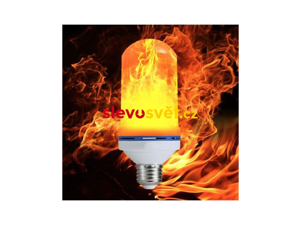 LED žárovka s efektem plamenu