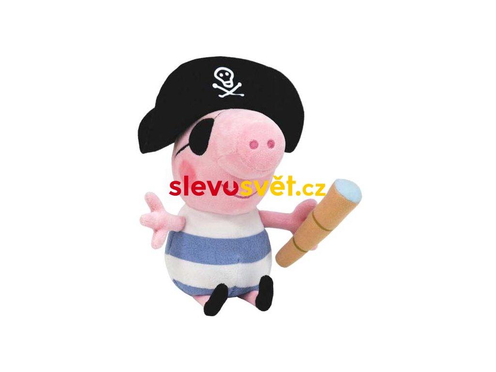 Prasátko Peppa plyšový Tom přívěsek pirát 15cm